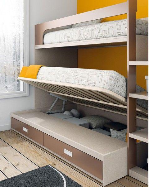 Litera camas nido literas infantil juvenil kenay home - Habitacion infantil cama nido ...