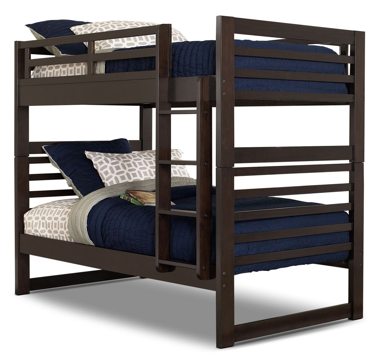Loft bed with slide and desk  Chadwick TwinTwin Bunk Bed u Espresso  Bunk beds  Pinterest