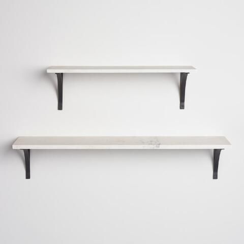Marble Mix Amp Match Wall Shelf Collection White Wall Shelves