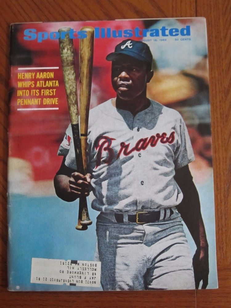 Sports Illustrated Hank Aaron Braves 1st Cover 1969