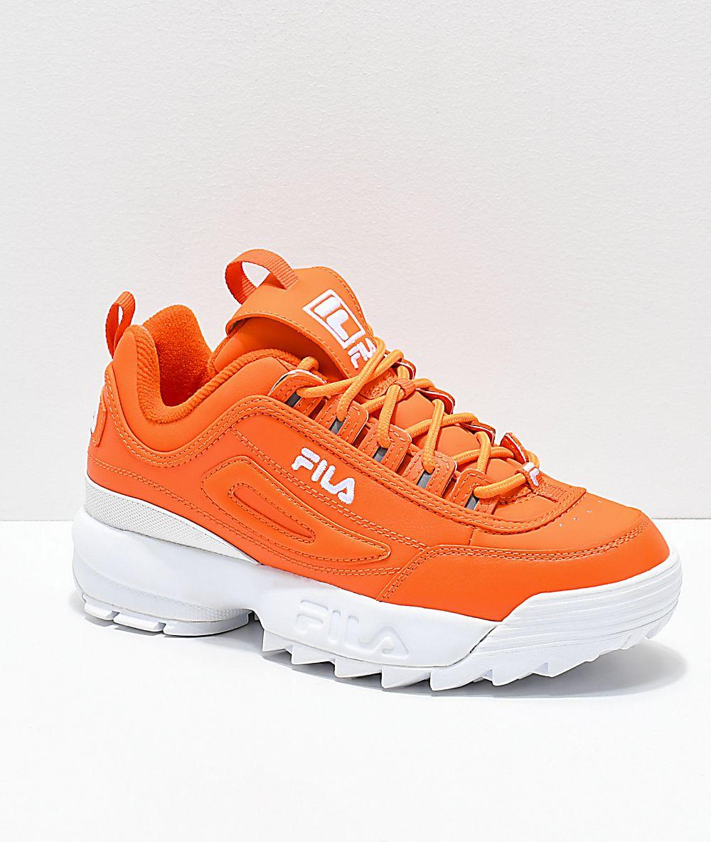 new style cc484 718db FILA Disruptor 2-  64.95 Orange Nike Shoes, Orange Trainers, Orange  Sneakers, Cute