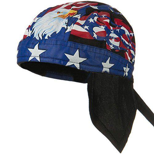Satin Stars and Stripes Criss Cross Headband Americana Headwrap D/&Y David Young