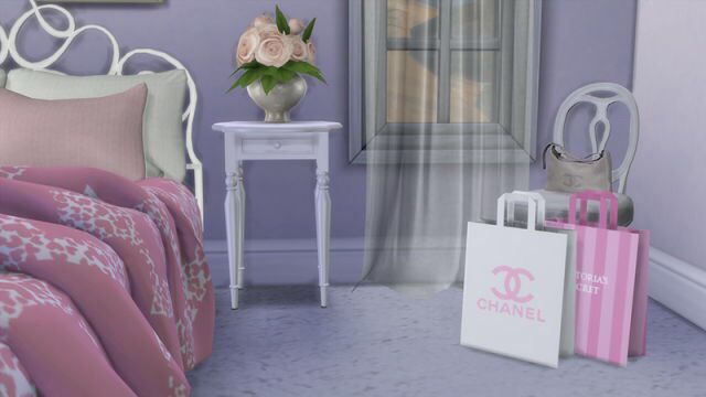 #TheSims4 #TS4 #TheSims #TS4CC #retro #glam #pink #girly #vintage #chanel #VictoriasSecret