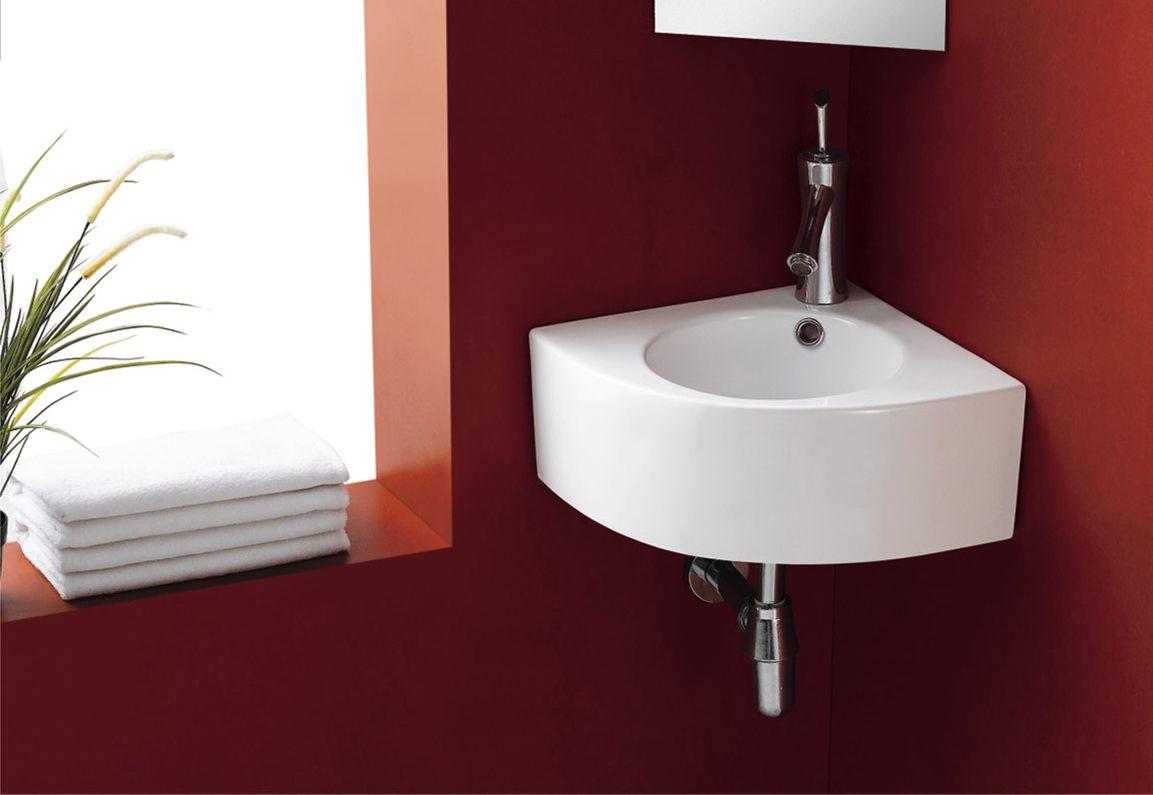 Un Lavabo Esquinero Es Ideal Para Cuartos De Baño Con Espacio Reducido Lavabo Esquinero Cuartos De Baño Lavabos