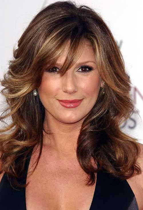 Long Length Haircuts For Women With Bangs 2