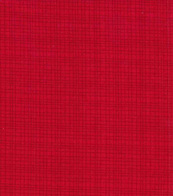 Keepsake Calico Fabric- Grid Red Blender