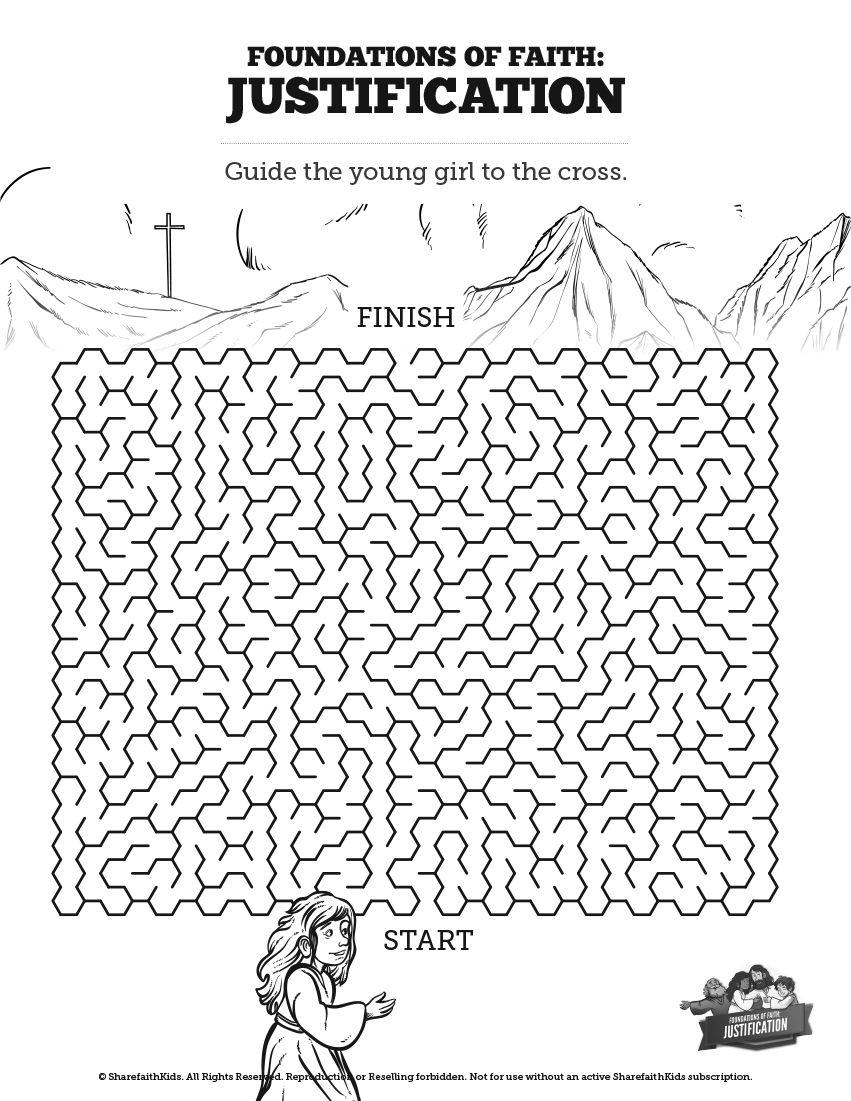 Romans 3 Justification Bible Mazes: Can your kids navigate