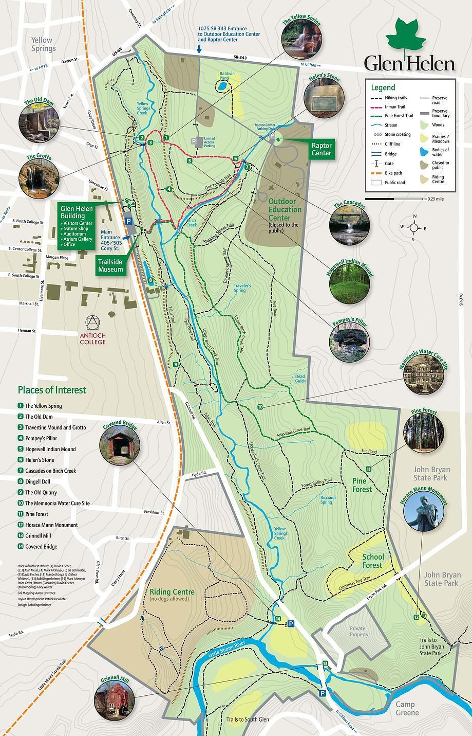 Glen Helen Nature Preserve TRAIL MAP Imma Run There