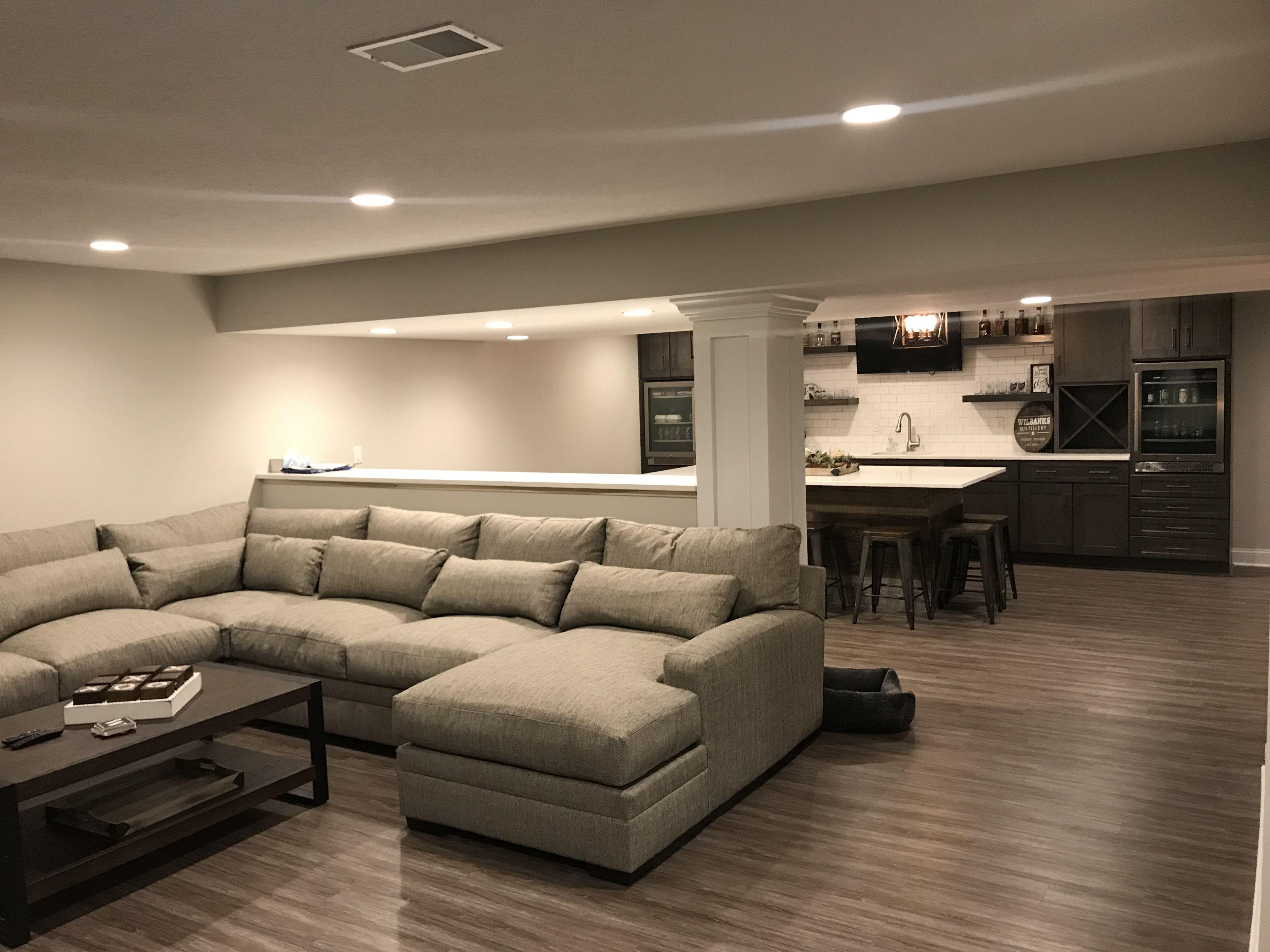 Finished Basement Media Bar Basementremodeling Finishing Basement Home Home Theater Rooms