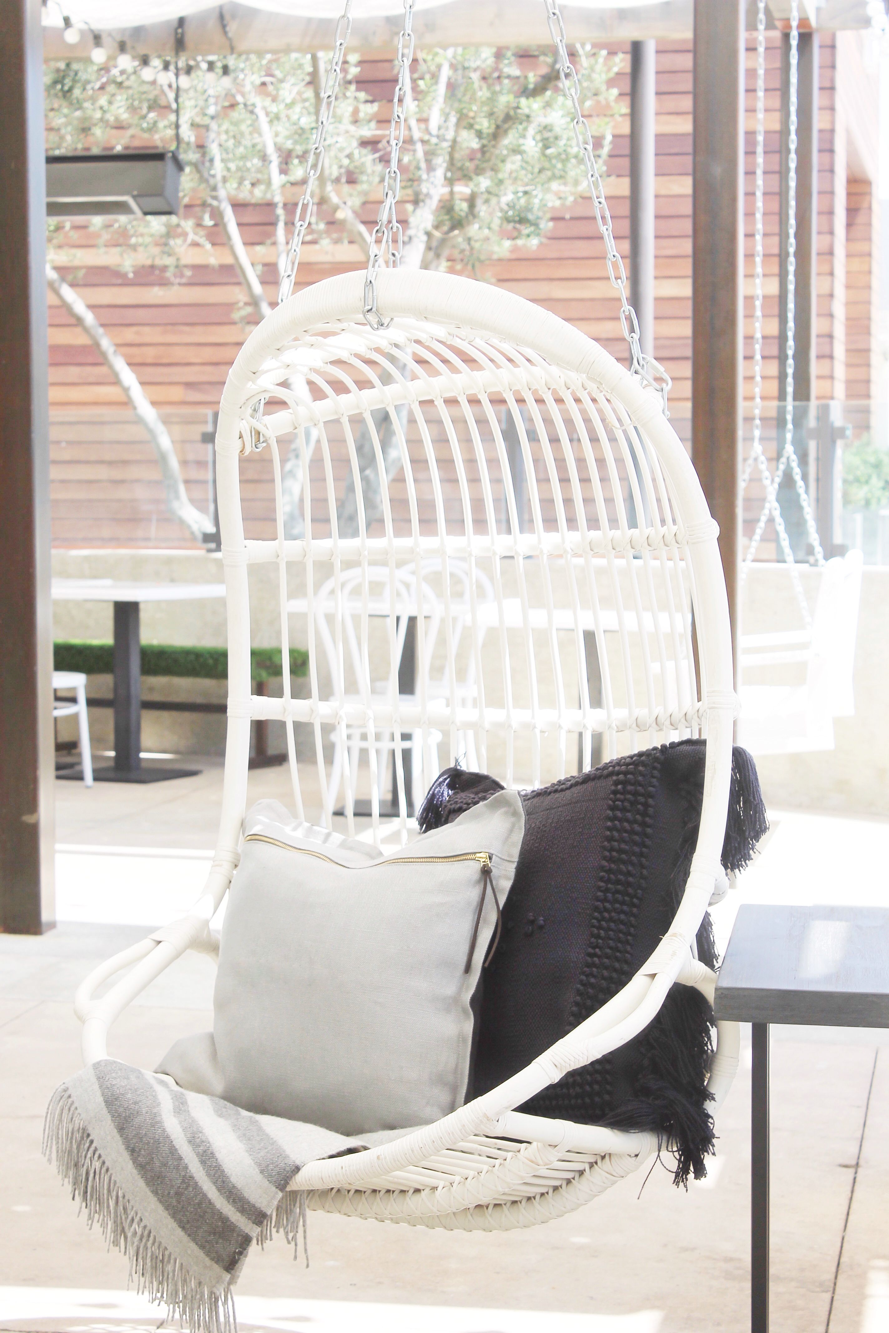 Hanging chair pillows throw outdoor living pinterest chair