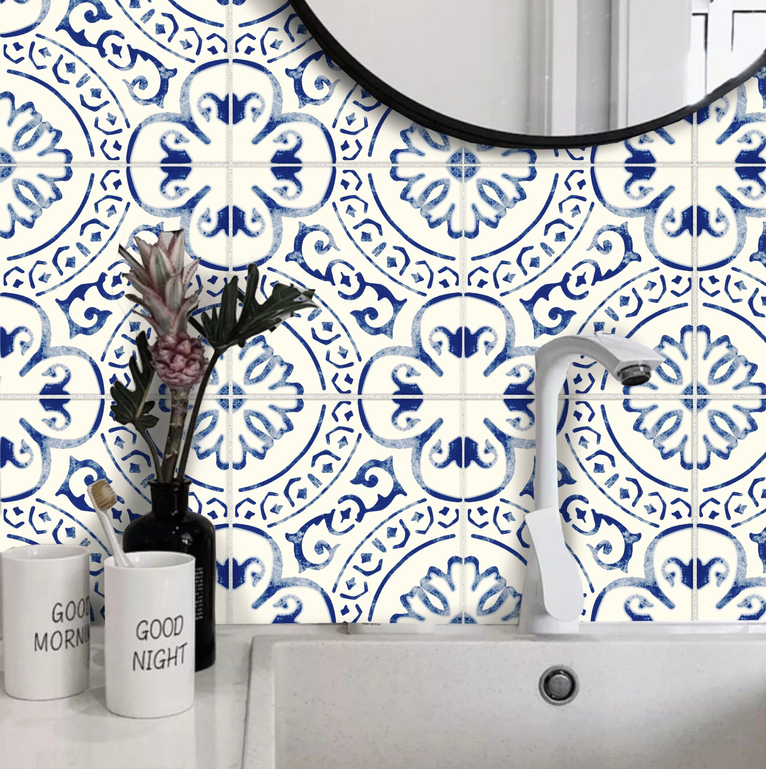 tile sticker kitchen bath floor wall
