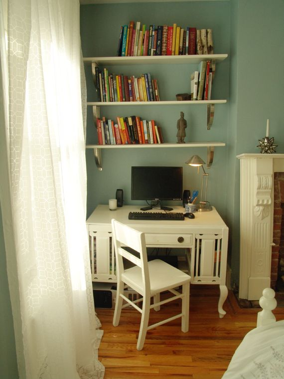 8 Ideas For Integrating Desks Into a Bedroom is part of Kids bedroom Desk - Whether you're cramped for space or simply want to explore alternatives to the traditional bedside table, there are plenty of ways to add a desk to your