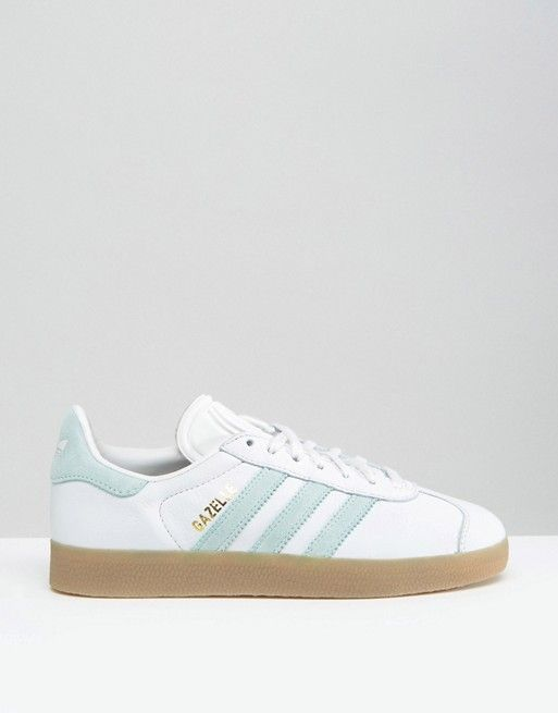 adidas gazelle wit mint