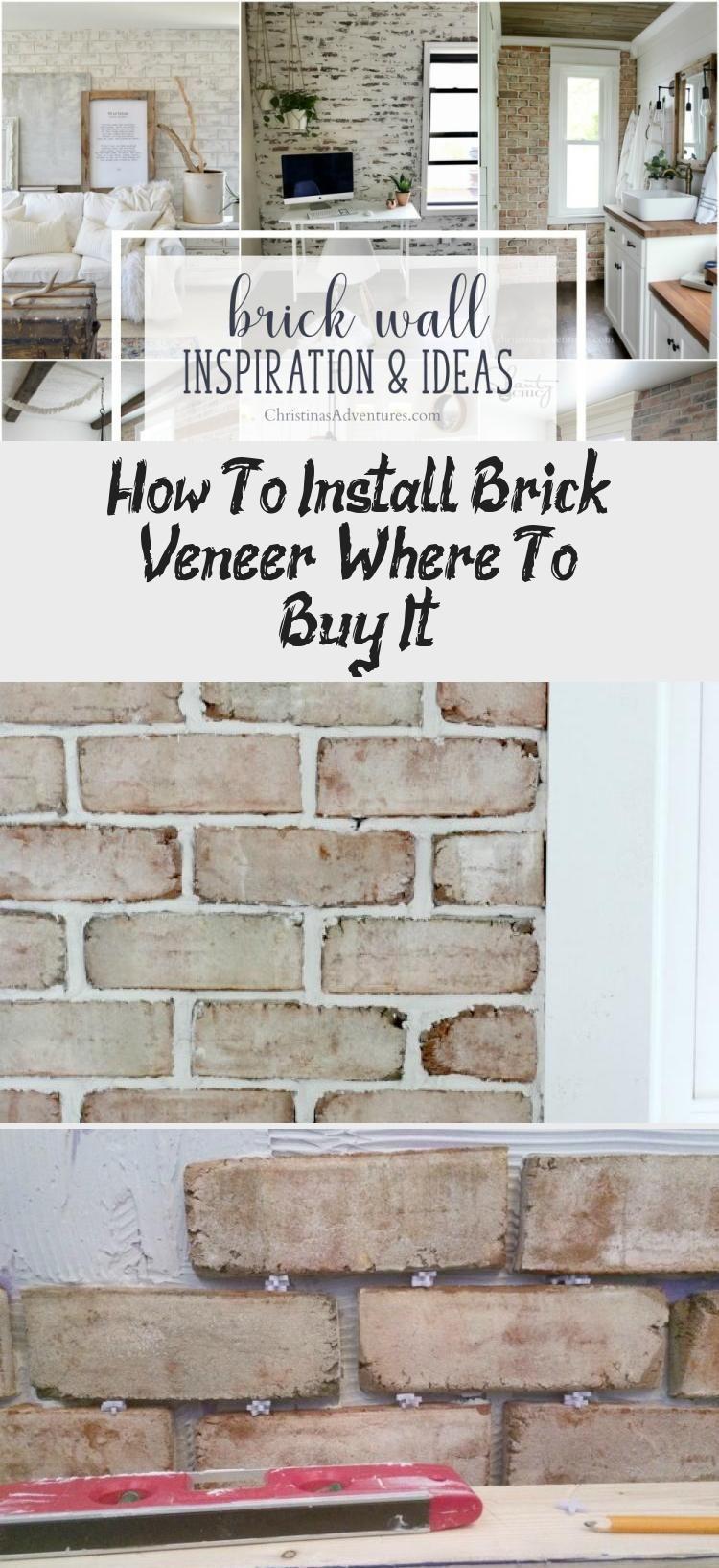 How To Install Brick Veneer Where