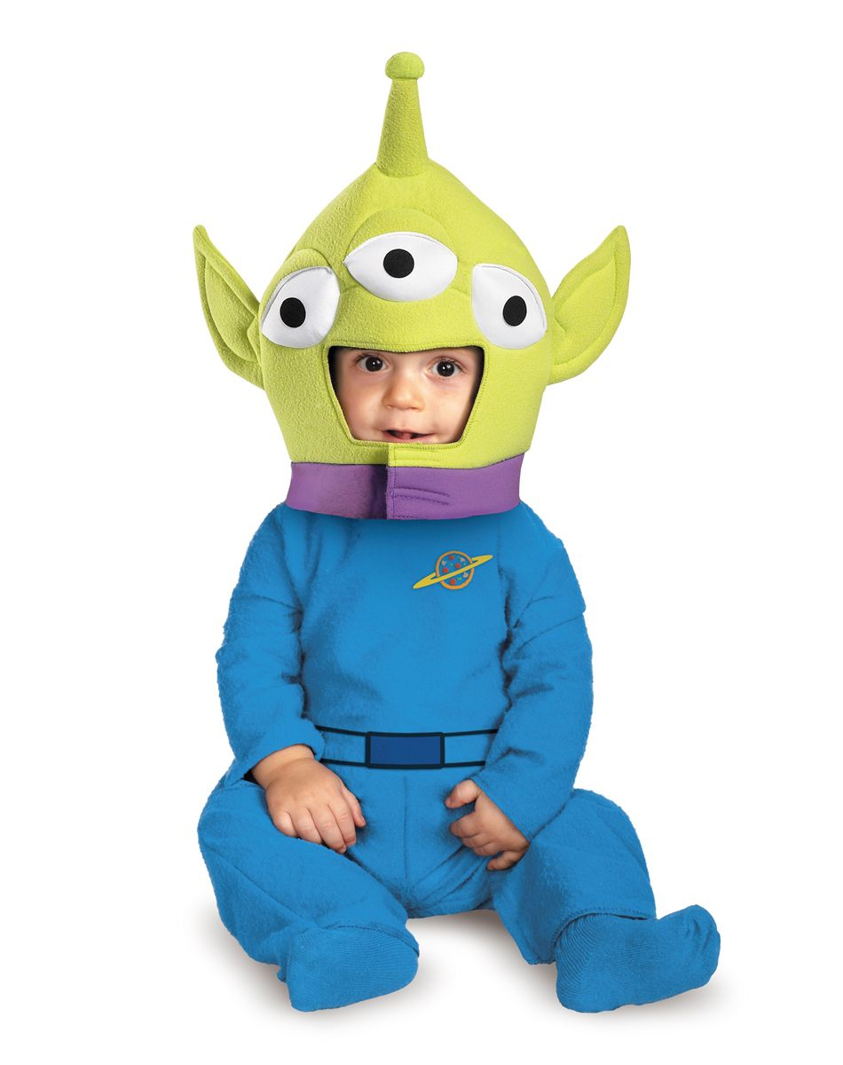 dress your little one in this adorable alien halloween costume toy story alien classic infant costume - Aliens Halloween Costume Baby