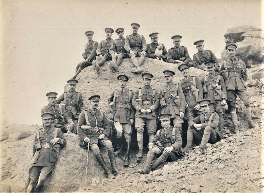 Officers Of The Queens Royal Regiment West Surrey Peshawar