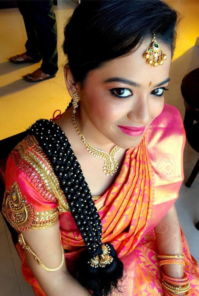 traditional southern indian brides bridal braid hair