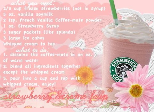 Starbucks Strawberry Frap