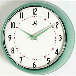 Retro green clock.