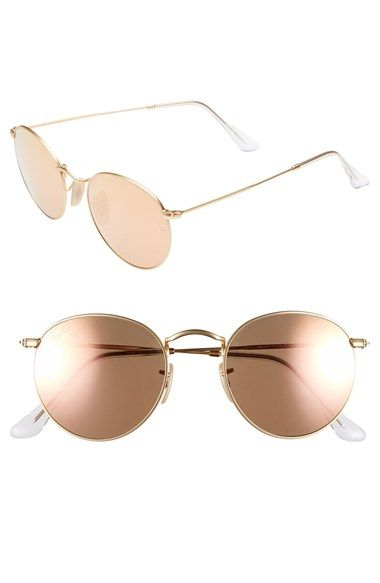 Free shipping and returns on Ray-Ban 'Icon' 50mm Sunglasses at Nordstrom.com. Sleek rounded frames epitomizing retro style define lightweight metallic sunglasses.