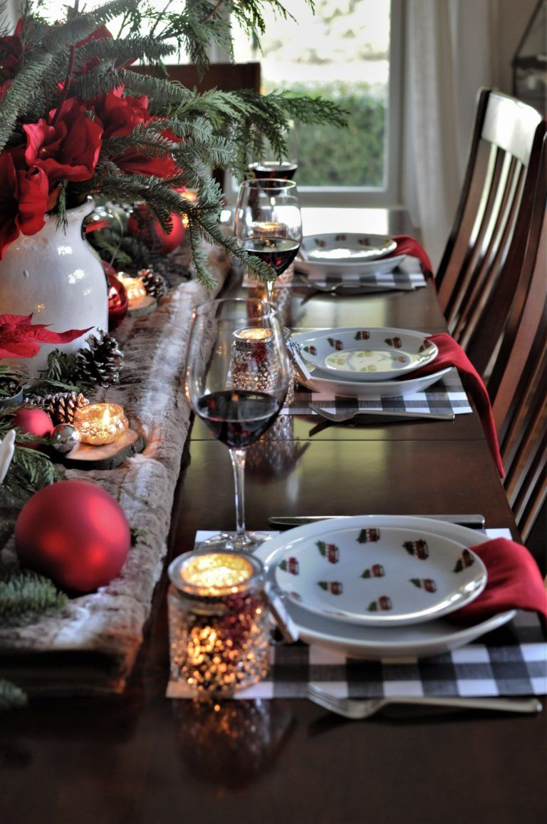 Rustic Christmas Table images