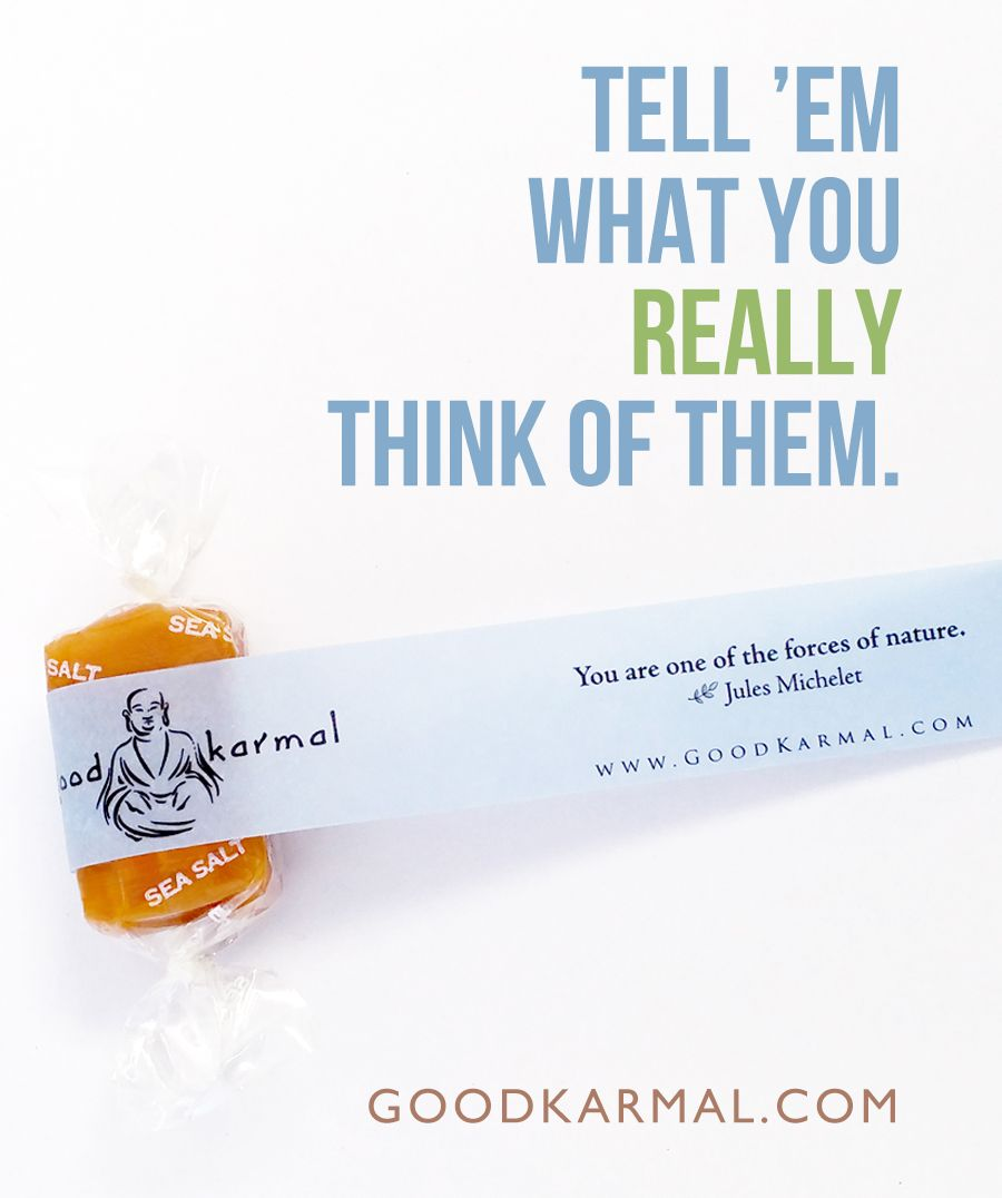 All Natural Creamy Caramel Wrapped In Positive Quotes A Gift For