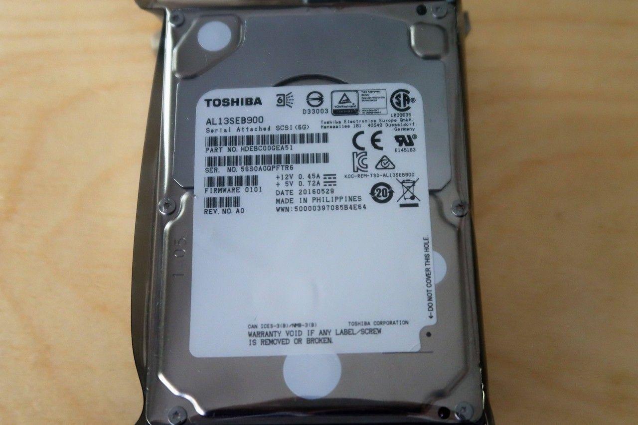 """Toshiba AL13SEB900 900GB 2.5/"""" SAS Hard Drive HDEBC00GEA51"""