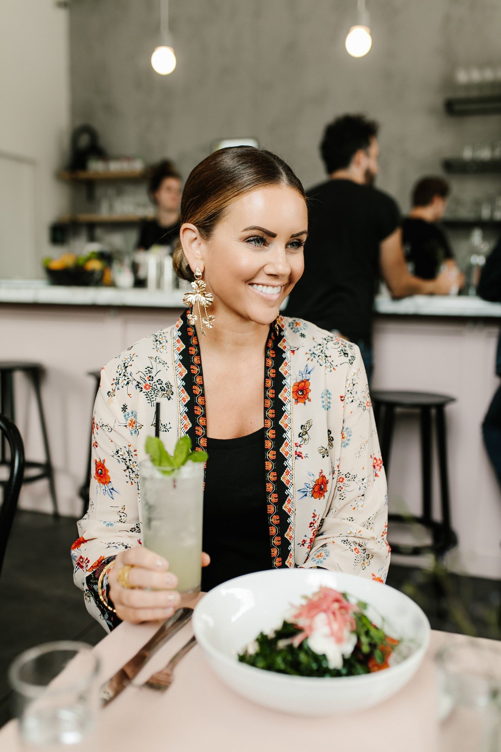 Cafe Roze Nashville- where to east in Nashville Tennessee | KBStyled Trendy Outfits