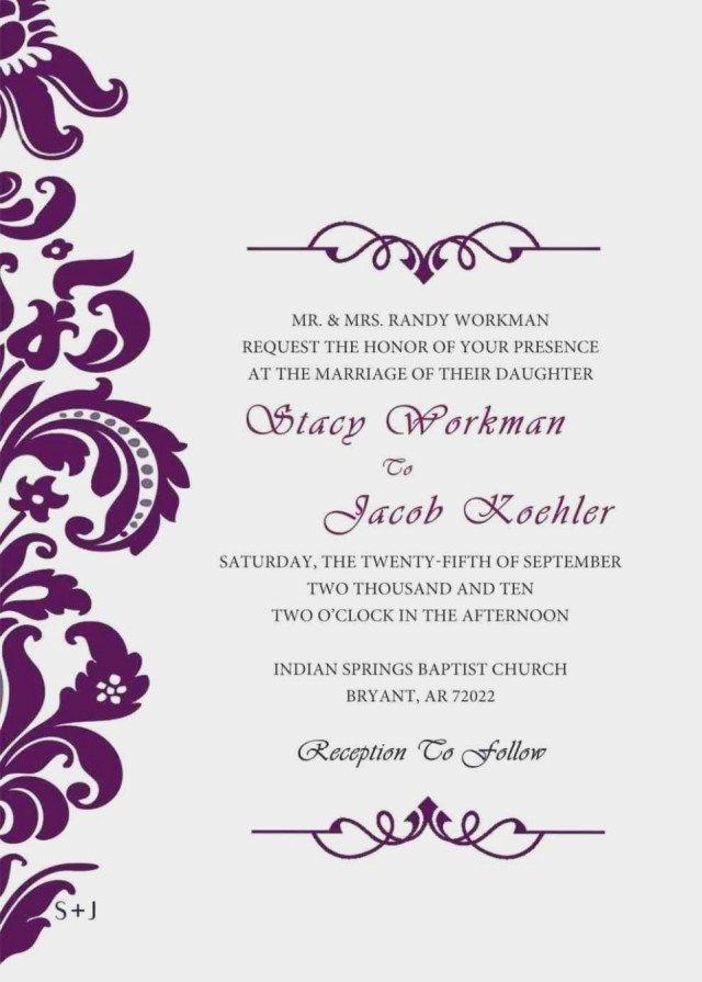 37 Awesome Photo Of Wedding Invites Design Your Own Regiosfera Com Wedding Invitations Printable Templates Blank Wedding Invitation Templates Free Wedding Invitation Templates