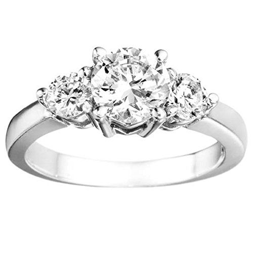 This three stone ring is prefect as a Engagement Ring or engagement ring. It represents the past present and future. When making a promise acknowledging the past enjoying the present and promising ...