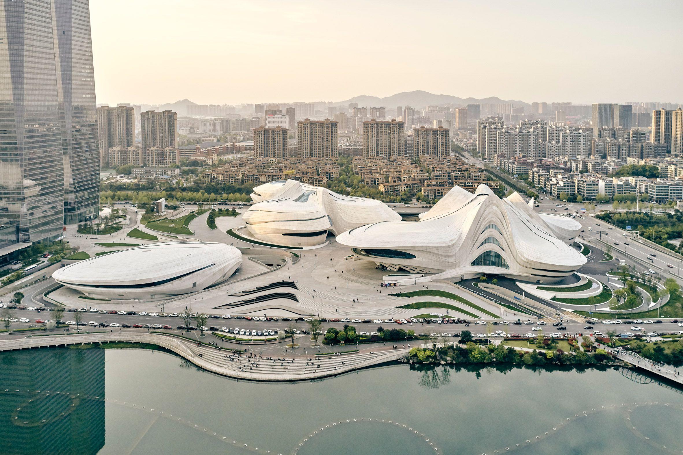 Zaha Hadid Architects Changsha Meixihu International Culture And Art Centre Nears Completion Zaha Zaha Hadid Zaha Hadid Architects
