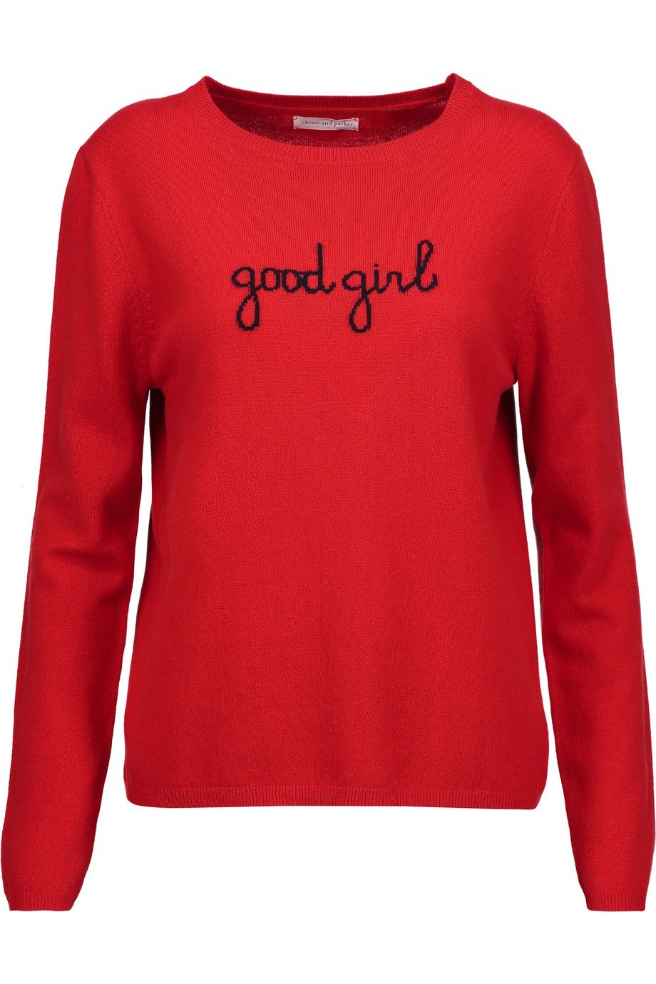 CHINTI AND PARKER Good Girl intarsia cashmere sweater ...