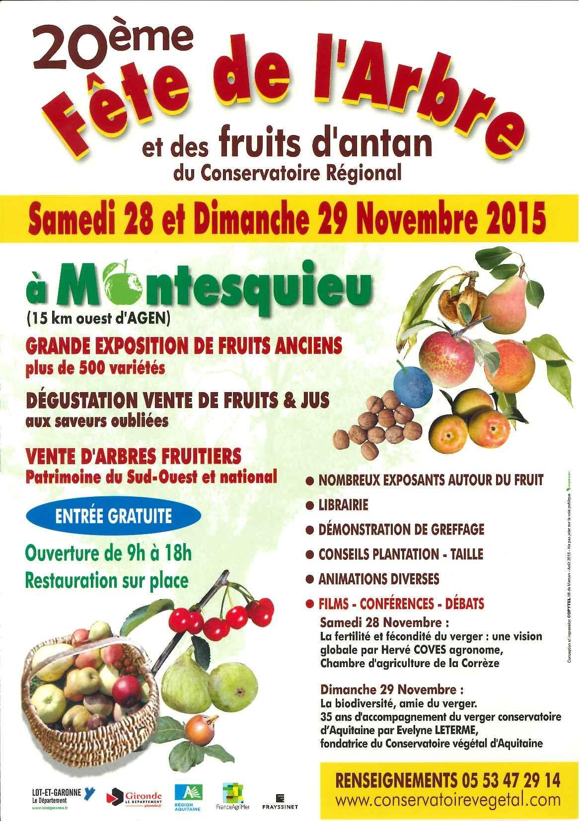 L'arbre et les fruits anciens en fête à Montesquieu (47) – Prom'Haies Poitou-Charentes