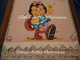 Catia Artes Manuais: JOANINHA COUNTRY COM RISCO EM TAMANHO NATURAL