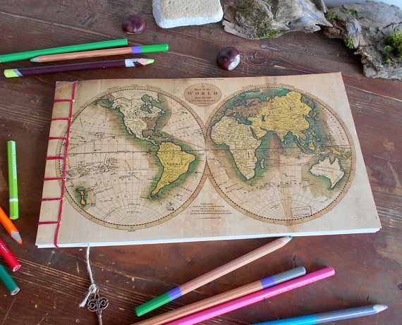 Map sketchbook journal with a world map fine print cover 120 pages map sketchbook journal with a world map fine print cover 120 gumiabroncs Images