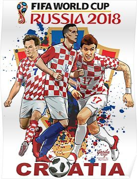 b08722123 Croatia - World Cup 2018 Poster