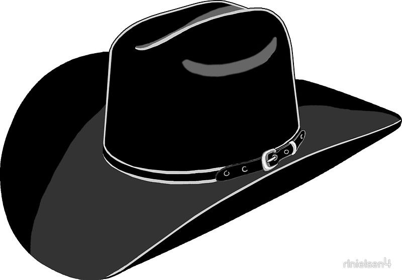 Cowboy Hat Sticker By Rlnielsen4 Cowboy Hats Cowboy Hat Drawing Cowboy And Cowgirl Silhouette