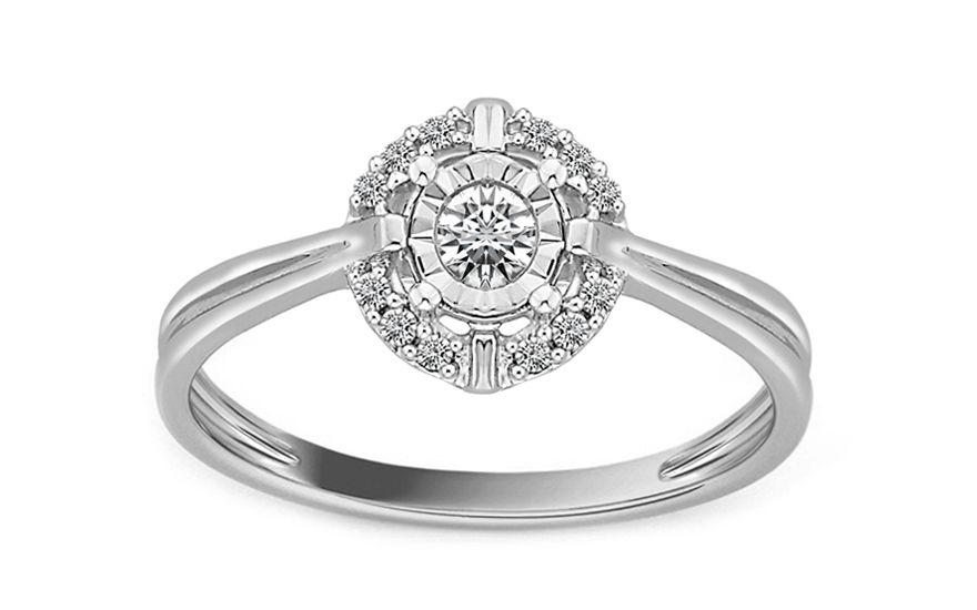 Zásnubní prsten z bílého zlata s diamanty Destinee  65fb678589c