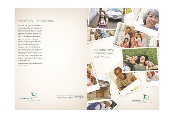 Excellent Cost-Free Life Insurance Brochure Template Five ...
