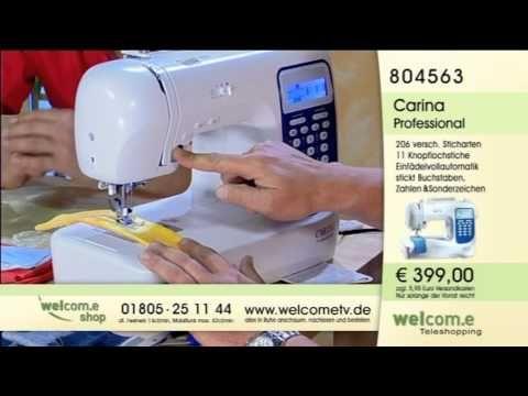 Tischset Platzdeckchen Nahen Mit Der Carina Premium Und Dem Stopf Und Stickfuss Youtube Carina Nahmaschine Computer Nahmaschine Nahmaschine