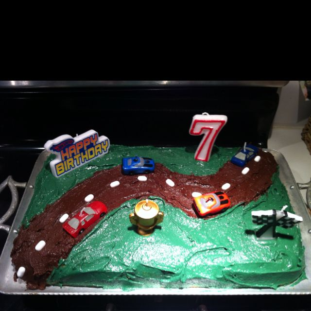 Race Car Cake Gluten Free Chlorophyll To Make Green Icing Tic Tacs For The Dashed Lines In Road One Happy 7 Year Old Boy