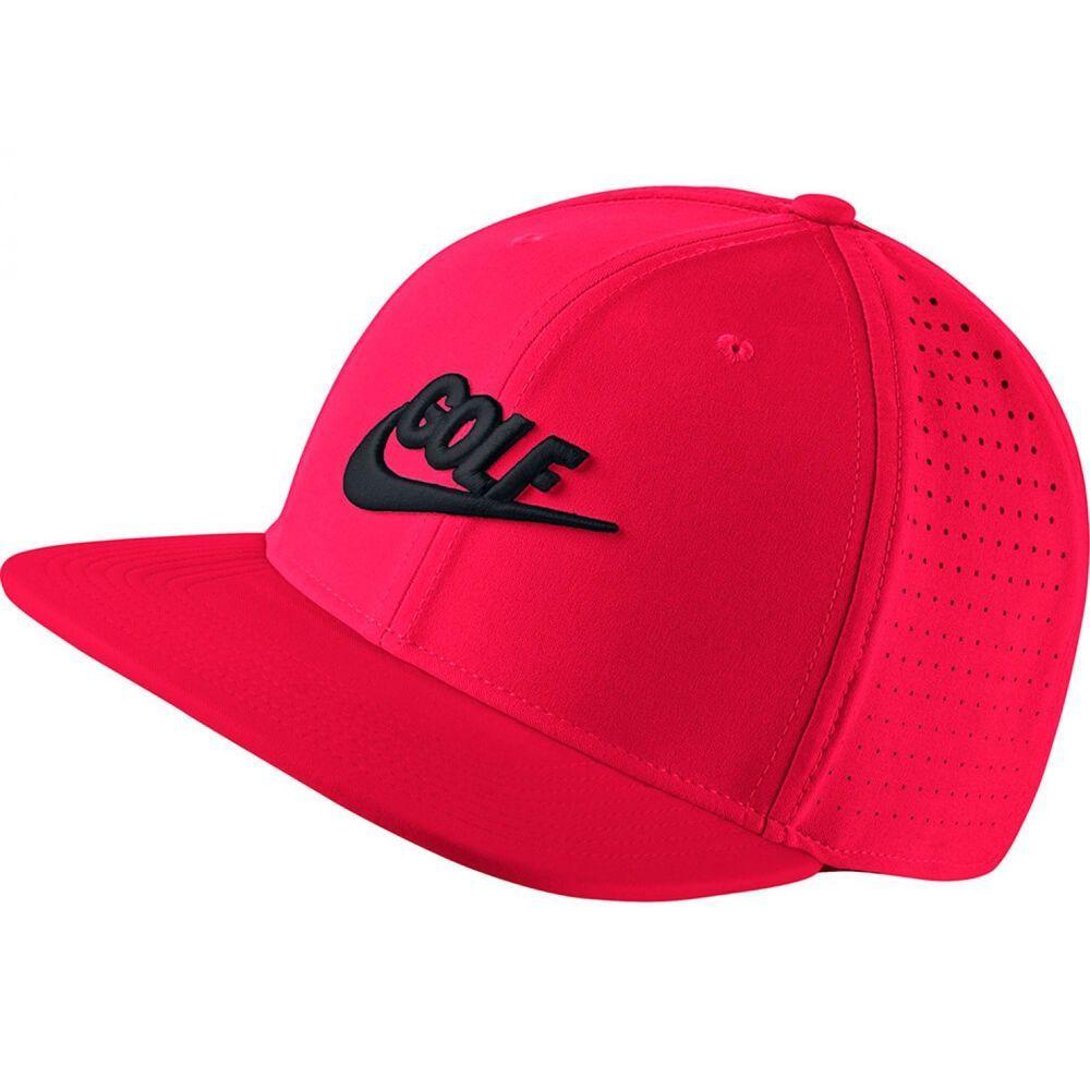 Mens Nike Golf Hat Performance Cap Dri Fit Stretch Snap Back 868377 653  Neon Red  NikeGolf  BaseballCap e1077d29439