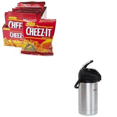 KITBUNAIRPOT30KEB12233 - Value Kit - Bunn Coffee Lever Action Airpot (BUNAIRPOT30) and Kellogg's Cheez-It Crackers (KEB12233)