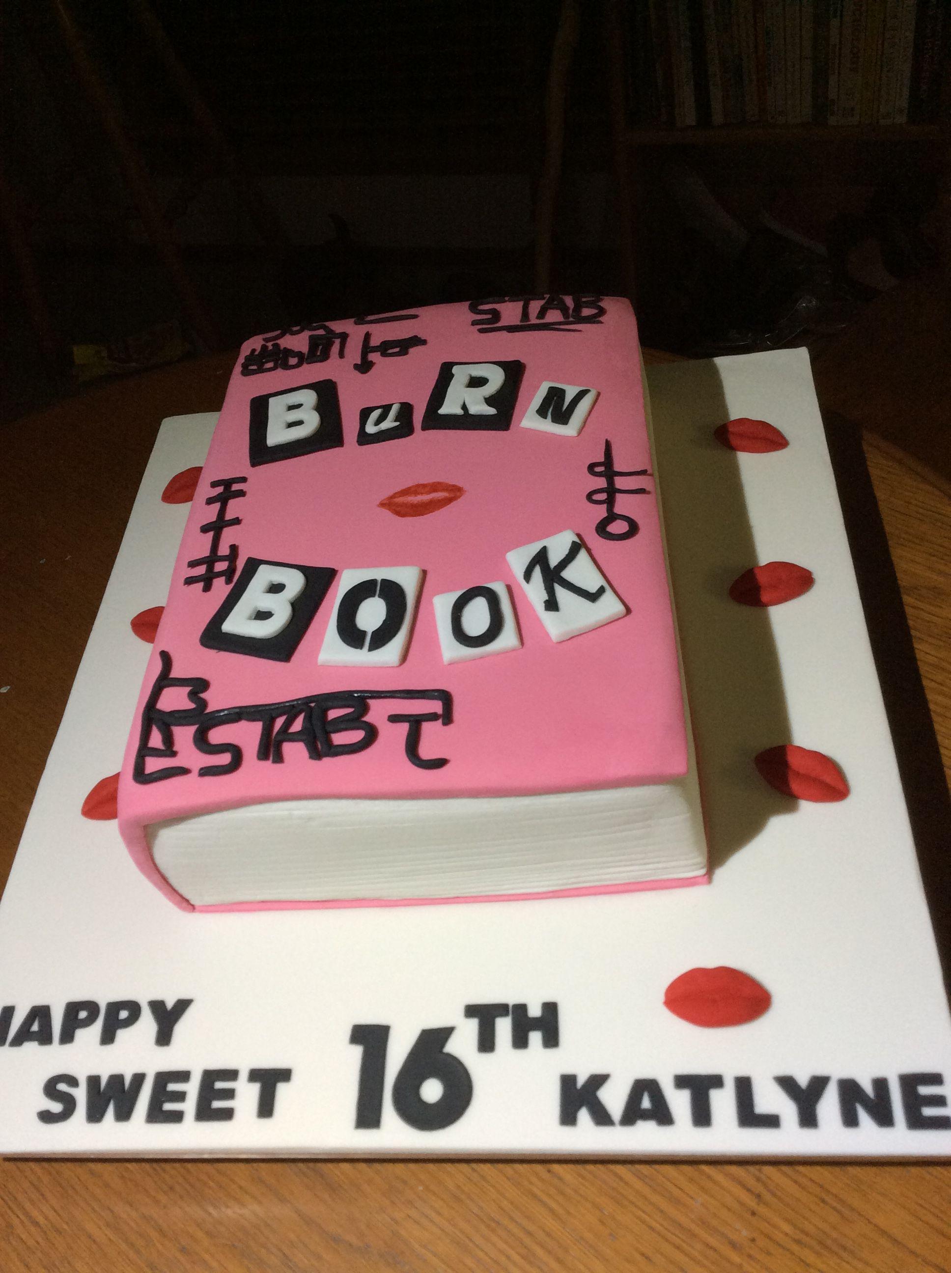 Mean Girls Diary Birthday Cake Denises Cake Party Pinterest