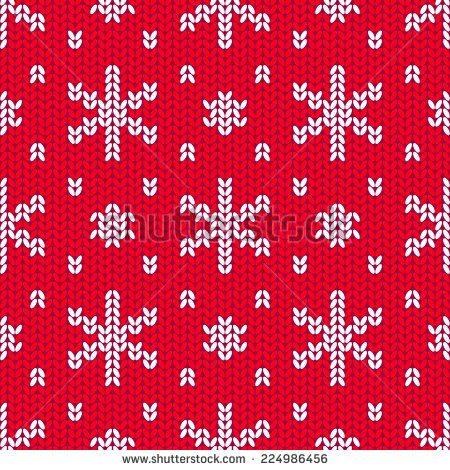 Knit Snowflake Pattern Google Otsing Christmas Pinterest