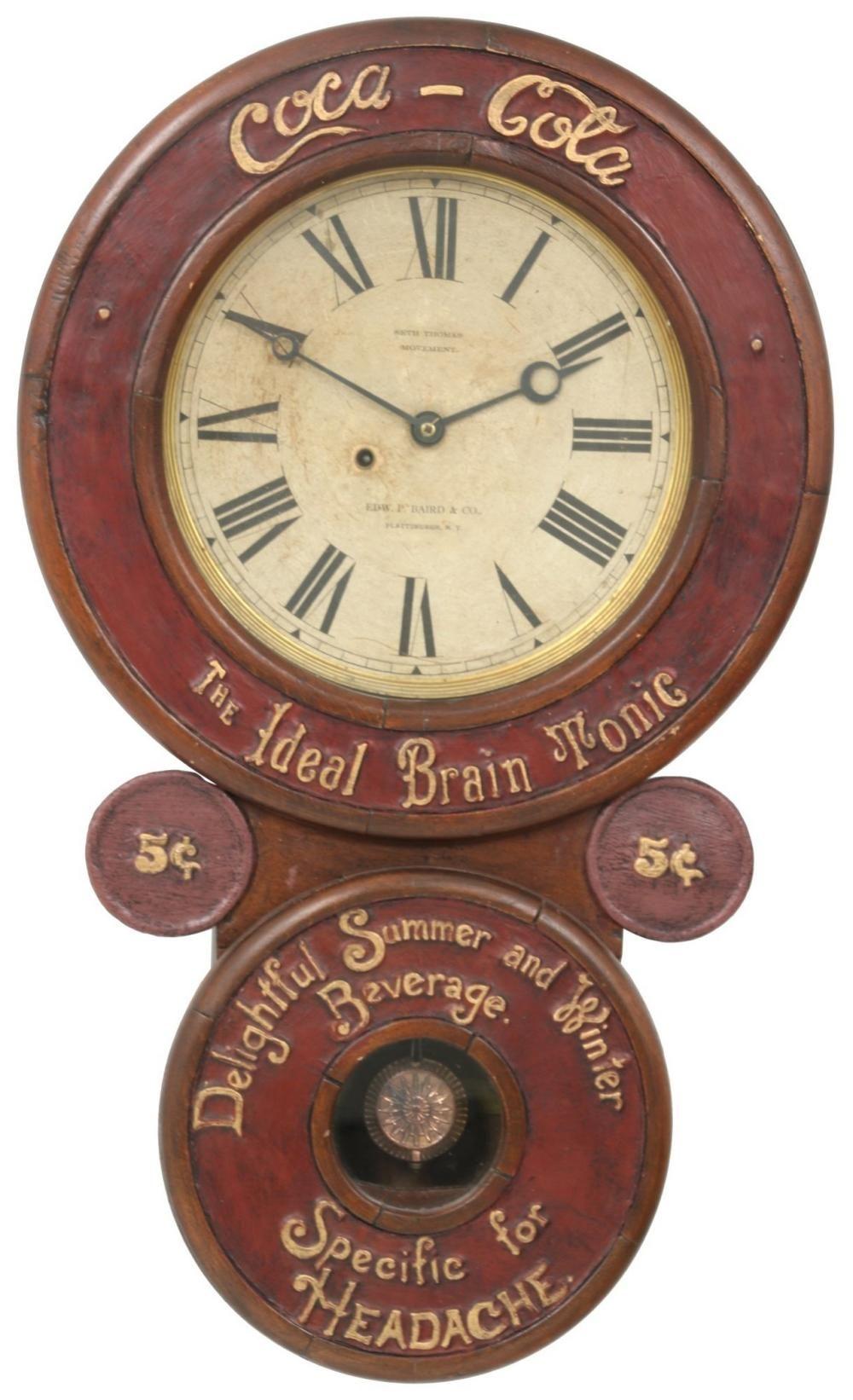 Miniature Shoe Polish Baird Advertising Clock Advertising Clocks Clock Antique Clocks