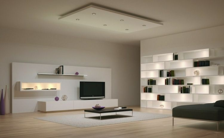 Indirekte Beleuchtung In Form Eines Regals Und Wohnwand