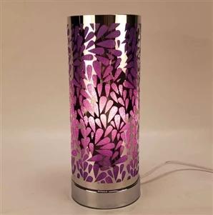 Touch Sensitive Raindrop Aroma Lamp Silver Purple Vibzin Uk Glass Wax Aroma Lamp