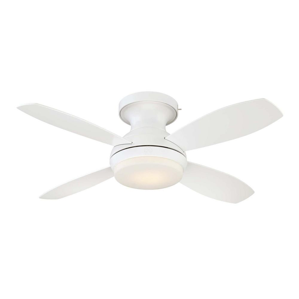 Led Indoor White Ceiling Fan With Skyplug Technology Remote Control