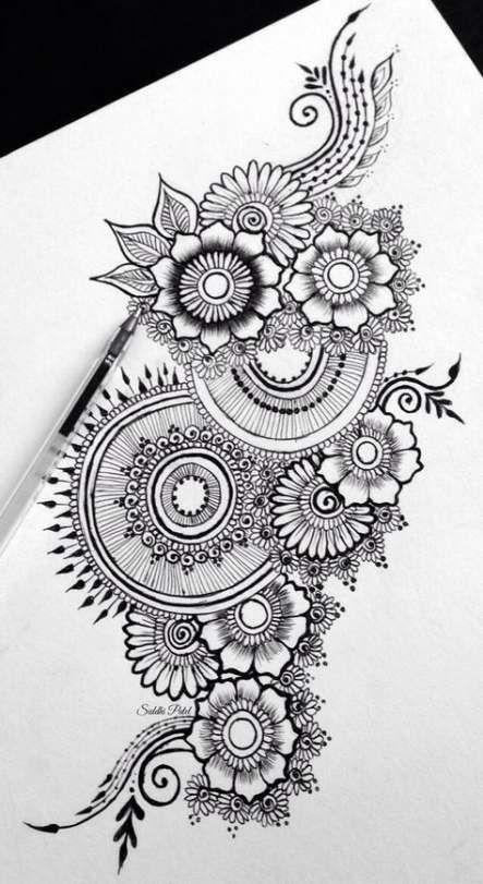 37 Ideen Blumen Tattoo Männer Mandala #mandala 37 Ideen Blumen Tattoo Männer Mandala …   – Zentangle